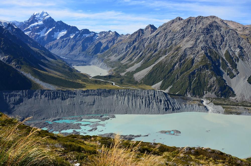 11 - vue sur le mont cook et le glacier hooker